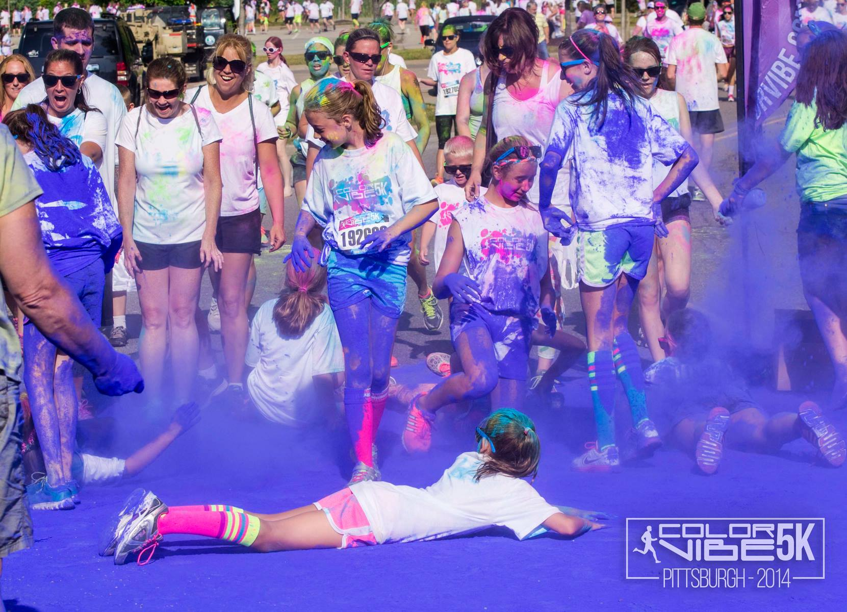 Color party at the purple station